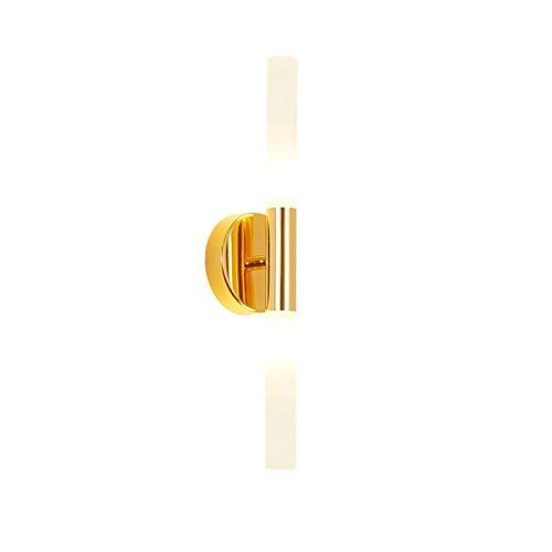 YXLMAONY Lámpara de Pared Moderna de Hierro Forjado para Interiores, Pantalla de acrílico, iluminación LED para Espejo de baño Blanco/cálido, mesita de Noche para Dormitorio, Sala de Estar, Pasillo