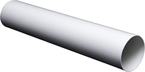 Lüftungsrohr Rundrohr Rundkanal aus ABS-Kunststoff. Rohrkanal Abluftrohr oder Zuluftrohr. Lüftungssystem PVC Ø100, Ø125, Ø150 mm (Ø125mm; L=0,5m / 50cm)