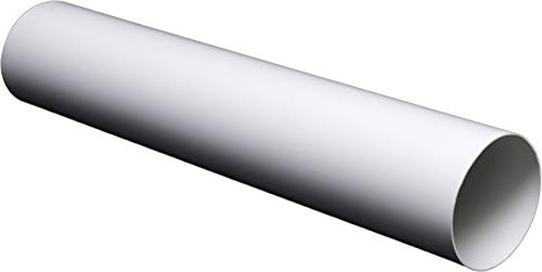 Lüftungsrohr Rundrohr Rundkanal aus ABS-Kunststoff. Rohrkanal Abluftrohr oder Zuluftrohr. Lüftungssystem PVC Ø100, Ø125, Ø150 mm (Ø100mm; L=0,5m / 50cm)