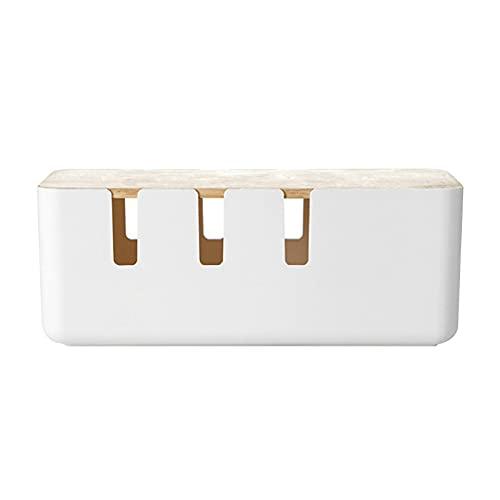 BINGHC Caja de Almacenamiento de Enchufe de Potencia Conveniente Multifuncional 1pc Caja de Almacenamiento de Cable Power Strip Funda de Alambre Oficina en casa (Color : A)