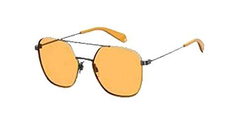 Polaroid Gafas de sol unisex modelo 6058/S Yellow/Bw Brown Talla única