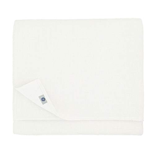 Linen & Cotton Nappe Amelia, 50% Lin, 50% Coton - Blanc (147 x 350cm)