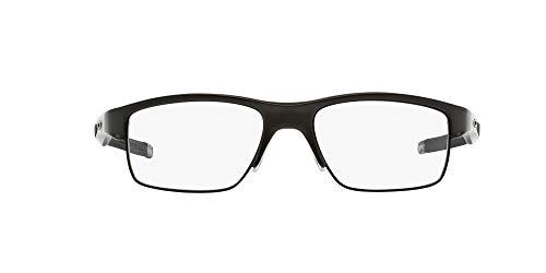 Oakley Men's OX3128 Crosslink Switch Metal Prescription Eyeglass Frames, Pewter/Demo Lens, 53 mm