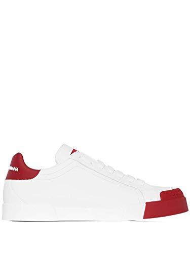 Moda Dolce E Gabbana Hombre CS1802AW11389926 Blanco Cuero Zapatillas   Otoño-Invierno 20