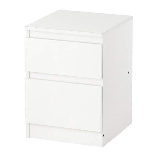 Ikea, cassettiera Kullen per la camera da letto, con 2 cassetti, colore bianco