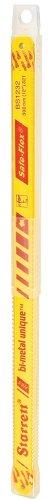 "Starrett KBS1232-10 Bi-Metal Unique High Speed Steel Safe-Flex Hacksaw Frame Blade, 0.025"" Thick, 32 TPI, 12"" Length x 1/2"" Width (Pack of 10)"