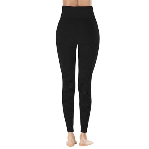 QTJY Pantalones de Yoga elásticos de Secado rápido para Mujer, Mallas Sexis para Levantar la Cadera, Pantalones Deportivos de Cintura Alta para Correr al Aire Libre AL
