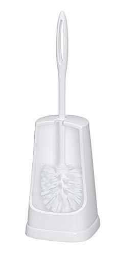 WENKO WC-Garnitur Simple Weiß - WC-Bürstenhalter, Kunststoff, 12.5 x 40 x 12.5 cm, Weiß