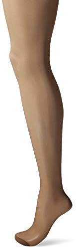 Hanes Women's Control Top Reinforced Toe Silk Reflections Panty Hose, Barely There, A/B