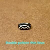 Rare Pattern Spiral Our Manufacturer OFFicial shop shop OFFers the best service 10x20mm Blackwhite Amulet Ston Natural Agate
