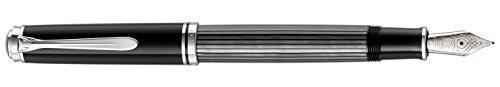 Pelikan 957555 Souverän Stresemann Kolbenfüllhalter M805 in Faltschachtel, Feder M, anthrazit