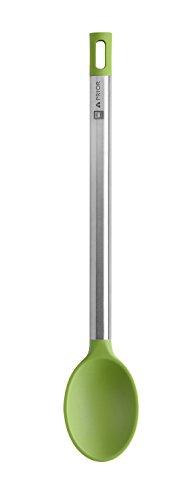 BRA Prior Cuchara de Cocina Apta para el Contacto con los Alimentos, Acero Inoxidable, Verde/Plata, 35 x 6.5 x 3.5 cm