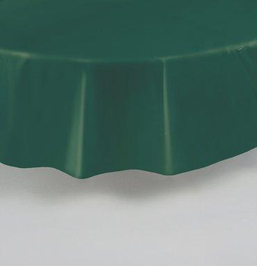 84 Inch Plastic Ronde Tafelkleed - Bos Groen
