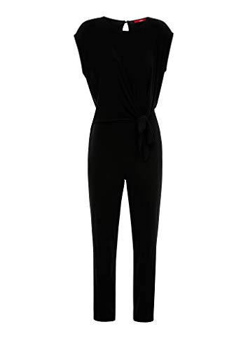 s.Oliver RED Label Damen Jumpsuit mit Knoten-Detail Black 42