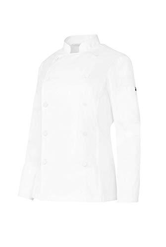 MONZA OBREROL Chaquetilla Cocinera Chef Mujer De Manga Larga con Bolsillos Y Botones Forrados. Color Blanco. Ropa Cocina/Hostelería. Talla L. Ref: 4119