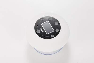 TSP Radio de baño columna de sonido impermeable altavoz bluetooth inalámbrico reloj subwoofer tarjeta de radio FM subwoofer centro de música altavoz ducha impermeable altavoz de ducha (color: blanco)