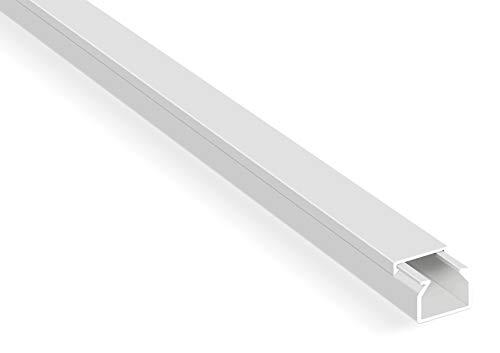 20m Kabelkanäle Selbstklebend Weiß (15x10 mm / 20x 1m) - Kabelkanal mit Schaumklebeband fertig für die Montage