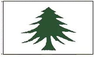 LuxMart 3x5 Massachusetts Navy 1775-1777 Pine Tree Washington Cruisers Flag 3'x5' Banner