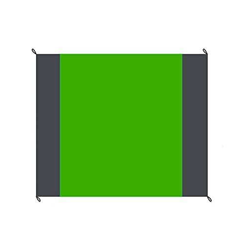 manta de picnic,Estera de playa impermeable y a prueba de humedad para acampar al aire libre, tapete de picnic plegable de bolsillo, cuerpo grande, verde + doble gris
