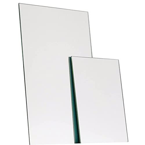 Elisando Spiegel auf Maß 30 x 20 cm Stärke 3mm | Spiegelzuschnitt 300 x 200 x 3 mm Spiegelplatten Spiegelfliesen Wandspiegel