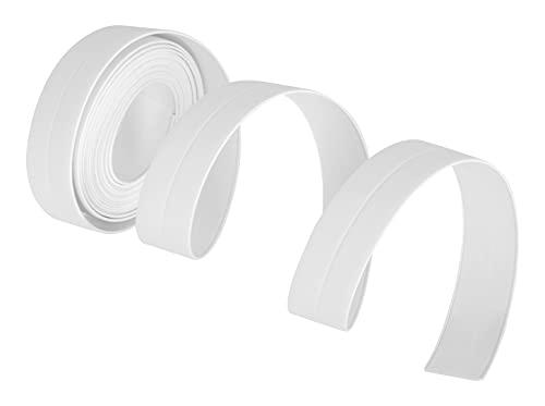 ADGO Selbstklebende Dichtband 22 mm x 320 cm, Abdichtung, Wandaufkleber, Dichtungsband Wasserdicht für Bad, Küche, Planschbecken, Dusche, Waschbecken, Weiß, 1 Stück
