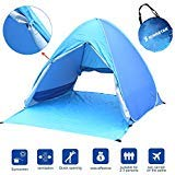 Kingstar Portable Pop Up Beach Tent,UV 2-3 Person Folding Sun Shelters Waterproof Automatic Instant Family Backpacking Hiking Camping Tent Outdoor Canopy Cabana Tents with Carry Bag (Blue) (Blue)