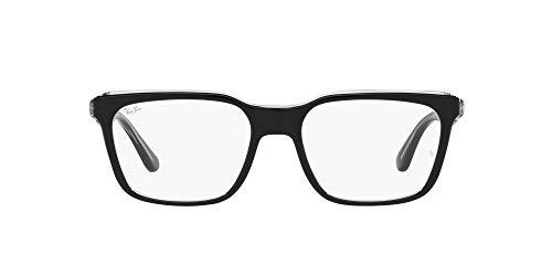[レイバン] メガネ RX5391F メンズ BLACK ON TRANSPARENT 53