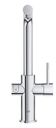 Grohe Blue Home Duo – 2-in-1 Trinkwassersystem und Küchenarmatur (gekühlt, gefiltert, mit Kohlensäure, L-Auslauf) 31454000 - 7