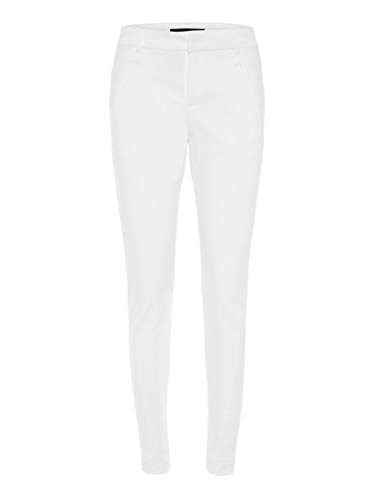 Vero Moda Vmvictoria Mr Antifit Ankle Pants Color Pantaloni, Biancaneve, XS/30 Donna