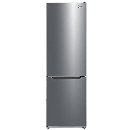 Midea MERB308FGD02 Kühl-/Gefrierkombination/188 cm hoch/186 kWh/Jahr/219 L Kühlteil/83 L Gefrierteil/No Frost/AllAround Cooling/Digital Control Front Inox
