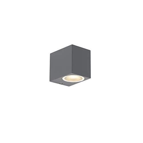 Qazqa Applique extérieur | Lampe Murale de Jardin Moderne - Baleno Lampe Anthracite - GU10 - Convient pour LED - 2 x 35 Watt