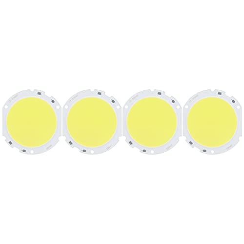 4PCS 2400LM 75mm Cuenta de lámpara COB redonda, Chip LED de alta potencia, 24W / 72‑82V para lámpara DIY Fuente de luz interior Iluminación Luz blanca Luz cálida(Luz blanca)