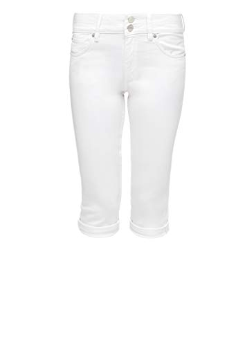 Q/S designed by - s.Oliver Damen Slim Fit: Capri-Jeans aus Twill White 36