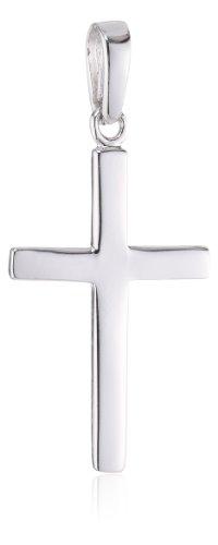 MTS Anhänger Kreuz, 925/- Sterling-Silber, rhodiniert hochglanzpoliert Nr. PS00364