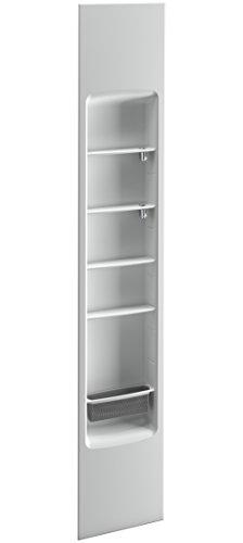 """KOHLER K-97631-95 Choreograph Shower Locker Storage, 14"""", Ice Grey"""