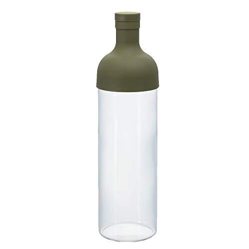 Hario, Filter Bottle, Fib-75-OG, Kunststoff und Glas, olivgrün, 750 ml, 10 x 10 x 25 cm