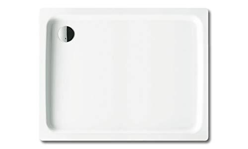 Kaldewei DuschPlan Rechteck Duschwanne weiß 80 x 100 x 6,5 cm 440148040001 inkl. Styroporträger / Wannenträger