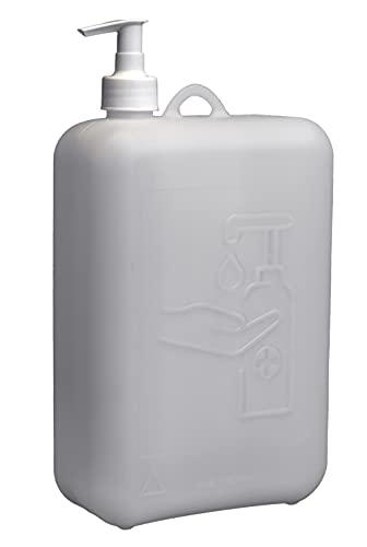 hünersdorff Dispensador de 2000 ml, Ideal para jabón o desinfectantes, sin BPA, Resistente a la Temperatura, Fabricado en Alemania, Color Natural