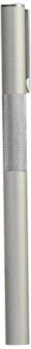 Muji, penna stilografica con corpo in alluminio, pennino fine, con 2 cartucce di ricambio