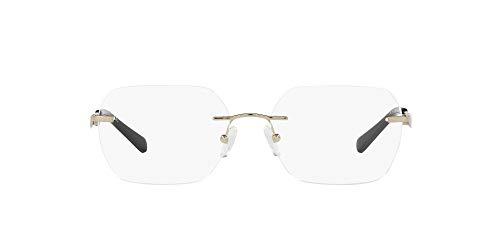 AX Armani Exchange Gafas rectangulares Ax1047 para mujer, Oro pálido/lente demo., 55 mm