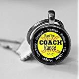 Collar de cristal de agradecimiento personalizado para entrenador de softbol o llavero de premios del equipo de coach regalo reconocimiento entrenador bolsa de agradecimiento colgador