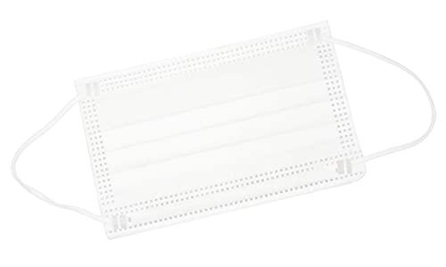 TBOC Mascarilla Higiénica Niños No Reutilizable -  [Pack 30 Unidades] 3 Capas [Color Blanco]