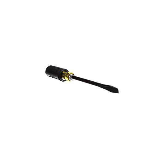Klein Tools 600-8 Flathead Screwdriver with 3/8-Inch Keystone Tip, 8-Inch Heavy Duty Square Shank