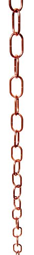 Stanwood Rain Chain Single Loop Extension Copper Rain Chain, 4-Feet