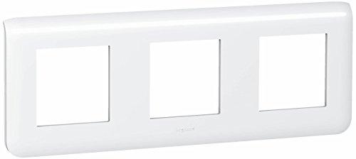 Legrand LEG78806 Plaque programme mosaïque 3 x 2 modules horizontal Blanc
