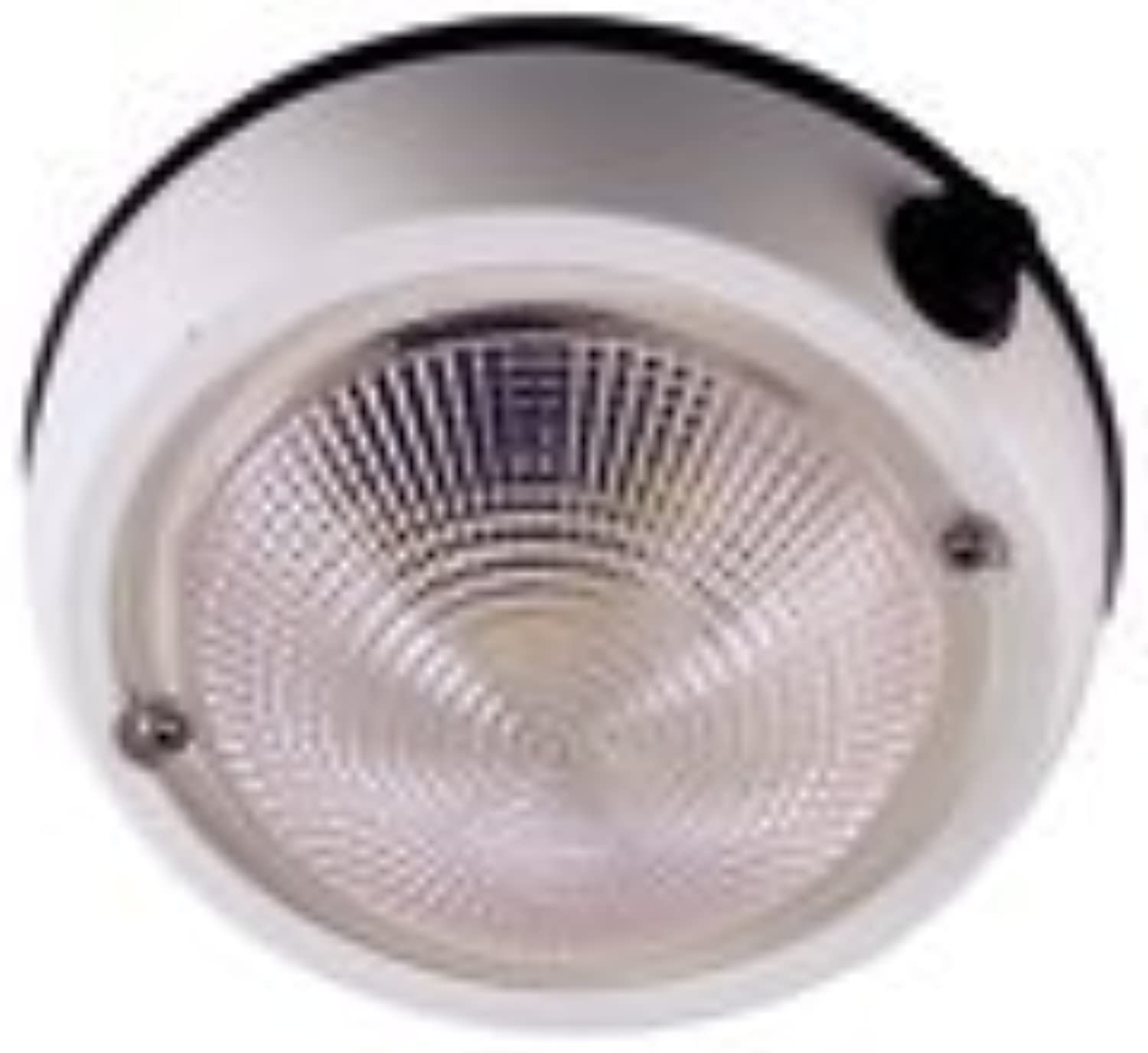 Perko 1253DP2WHT Exterior Surface Mount Dome Light, 5-Inch by Perko