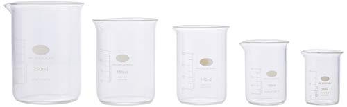 Juego de vasos de vidrio para medir | Vasos de forma baja, tazas de medir, vasos de borosiliate