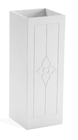 SuskaRegalos – Paragüero Blanco Madera MDF–16,8x16,8x46cm