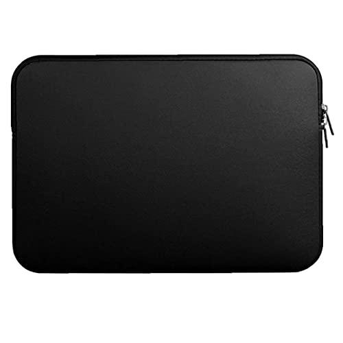Runfon 13 Pulgadas portátil Caso de Manga Duradero Ordenador portátil de Bolsillo de la Tableta Maletín Bolsa de Transporte Bolsa de la Piel de la Cubierta Negro