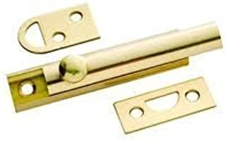 1 Set 8 In Heavy Duty Construction Prime-Line MP4914 Surface Bolt Brushed Chrome Finish Steel